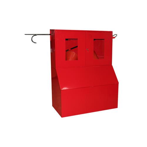 Стенд противопожарный (с сеткой;с окнами; без окон) с ящиком для песка 0.5куб. серия Т купить
