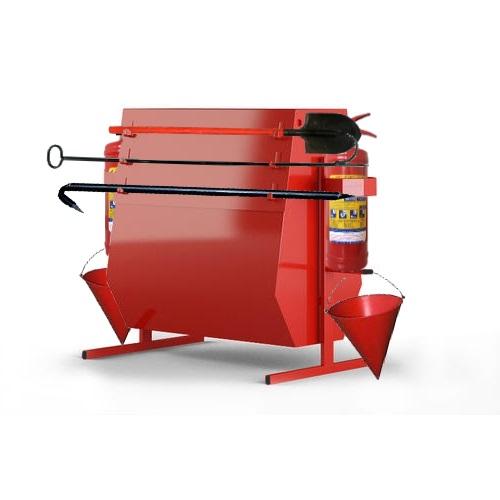 Стенд пожарный поворотный с бункером для песка купить